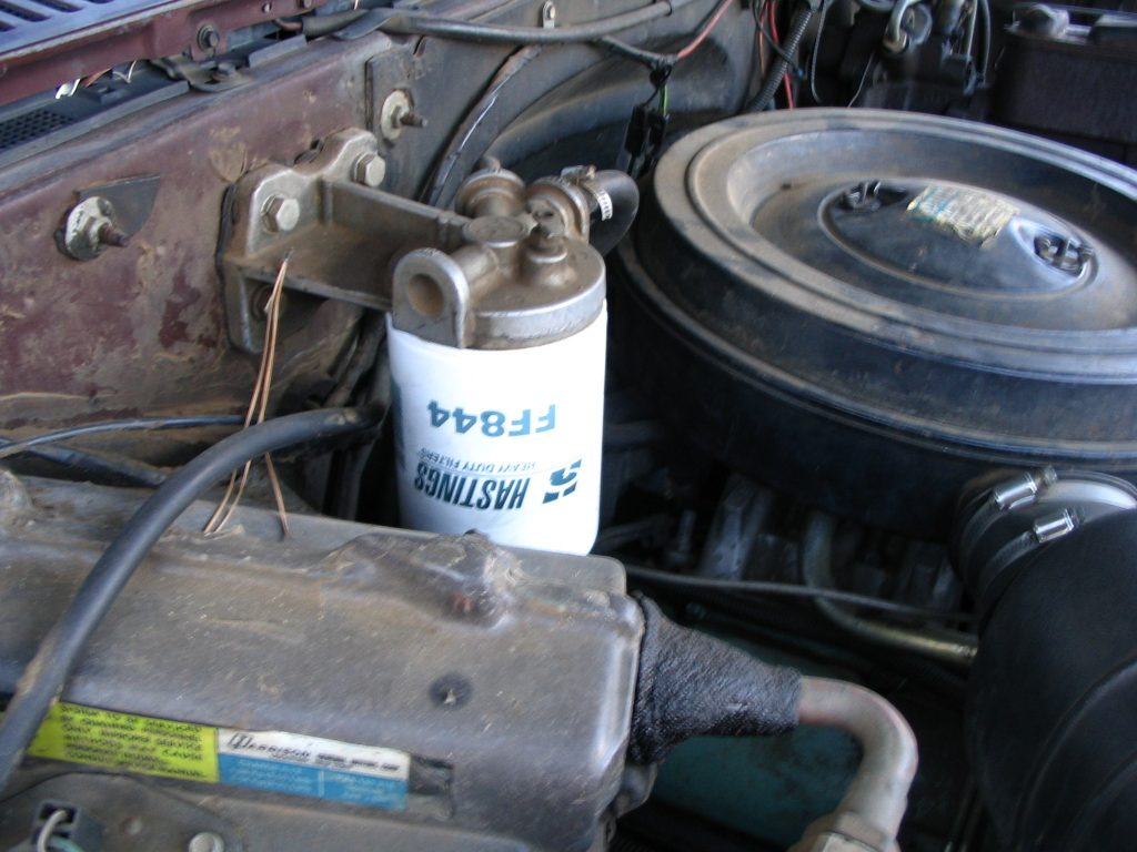 Clogged fuel filter needing to be repaired
